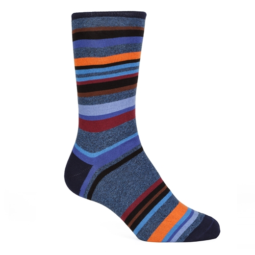 Astor Stripe Cotton Socks-new online-Fifth Avenue Menswear