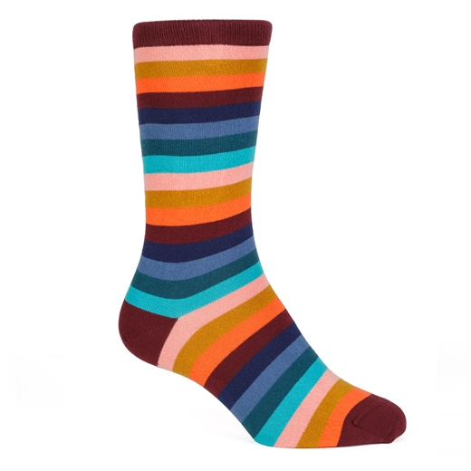 Simba Stripe Cotton Socks-new online-Fifth Avenue Menswear