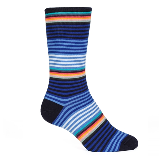 Graded Block Stripe Cotton Socks-new online-Fifth Avenue Menswear