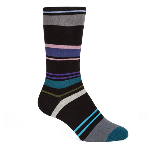Cruzer Stripe Cotton Socks-new online-Fifth Avenue Menswear