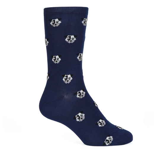 Dog Faces Cotton Socks-new online-Fifth Avenue Menswear