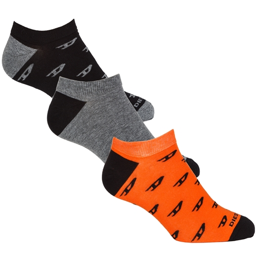 Gost 3 Pack 'D' Print Ankle Socks-holiday-Fifth Avenue Menswear