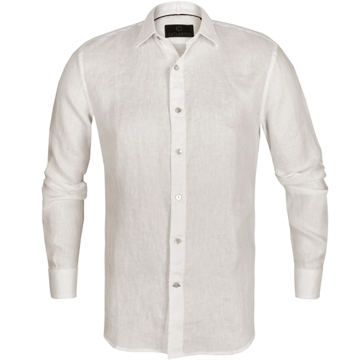 Blake Soft Washed Linen Casual Shirt-essentials-Fifth Avenue Menswear