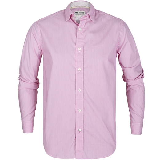 Roma Fine Stripe Stretch Cotton Casual Shirt-new online-Fifth Avenue Menswear