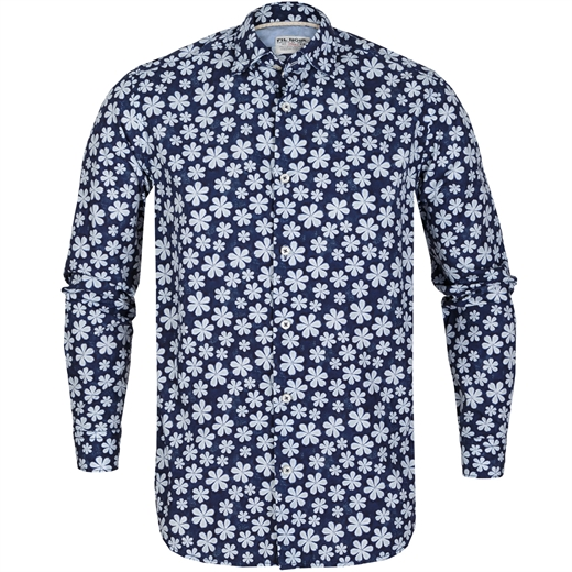 Roma Big Floral Print Casual Shirt-new online-Fifth Avenue Menswear