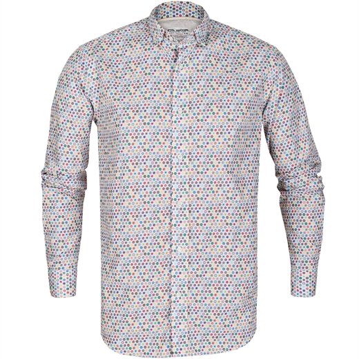 Roma Geometric Circle Print Casual Shirt-new online-Fifth Avenue Menswear