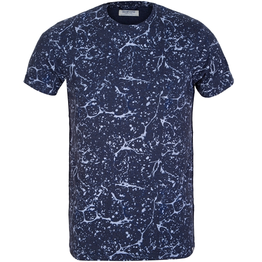 Slim Fit Oil Paint Print T-Shirt-t-shirts & polos-Fifth Avenue Menswear