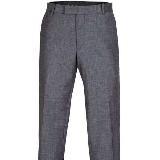 Razor Grey Wool Dress Trouser-trousers-Fifth Avenue Menswear