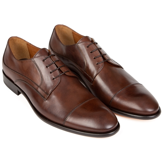 Chaser Leather Toecap Derby Dress Shoe-essentials-Fifth Avenue Menswear