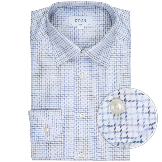 Slim Fit Luxury Twill Check Dress Shirt-new online-Fifth Avenue Menswear