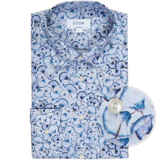 Contemporary Fit Petal Print Dress Shirt-new online-Fifth Avenue Menswear