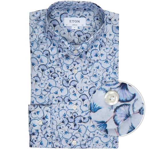 Super Slim Fit Petals Print Dress Shirt-new online-Fifth Avenue Menswear