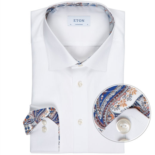 Contemporary Fit Luxury Twill Dress Shirt-new online-Fifth Avenue Menswear