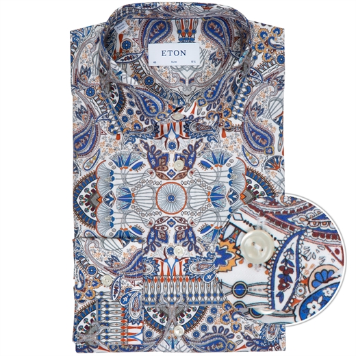 Slim Fit Paisley Print Dress Shirt-new online-Fifth Avenue Menswear