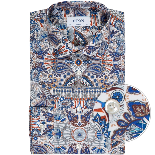 Super Slim Fit Paisley Print Dress Shirt-new online-Fifth Avenue Menswear