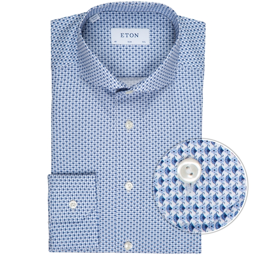 Slim Fit Geometric Flower Print Dress Shirt-new online-Fifth Avenue Menswear