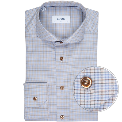 Slim Fit Luxury Cotton Check Dress Shirt-new online-Fifth Avenue Menswear