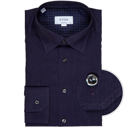 Contemporary Fit Herringbone Flannel Dress Shirt-new online-Fifth Avenue Menswear