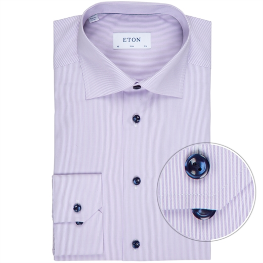Slim Fit Luxury Cotton Fine Stripe Dress Shirt-new online-Fifth Avenue Menswear