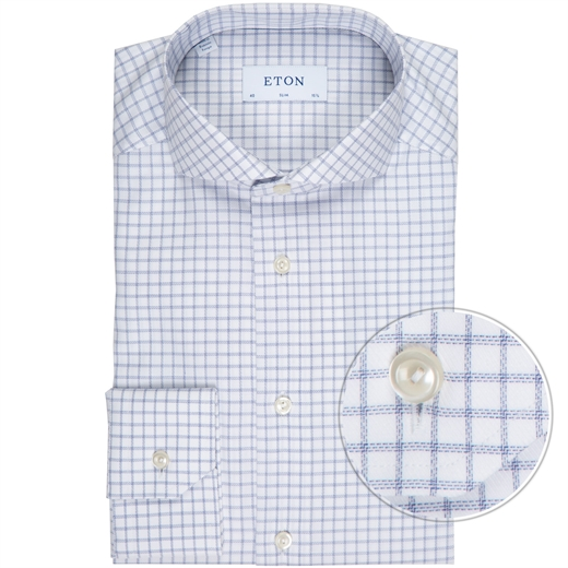 Slim Fit Twill Window Pane Check Dress Shirt-new online-Fifth Avenue Menswear
