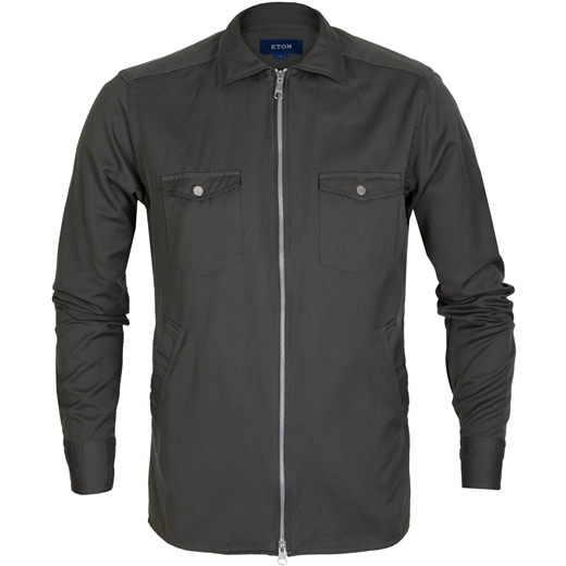 Slim Fit Liight Weight Twill Zip-up Jacket-new online-Fifth Avenue Menswear