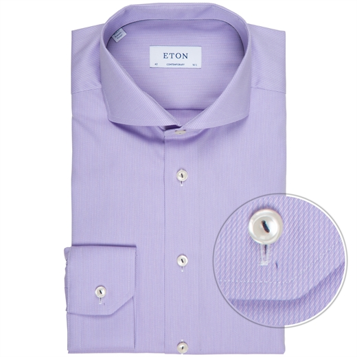 Contemporary Fit Textured Self Stripe Dress Shirt-new online-Fifth Avenue Menswear