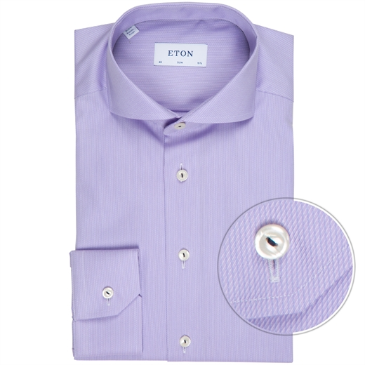 Slim Textured Self Stripe Dress Shirt-new online-Fifth Avenue Menswear