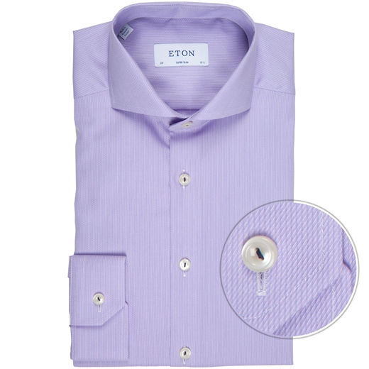 Super Slim Textured Self Stripe Dress Shirt-new online-Fifth Avenue Menswear