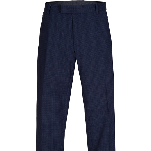 Caper Travel Check Dress Trouser-work-Fifth Avenue Menswear
