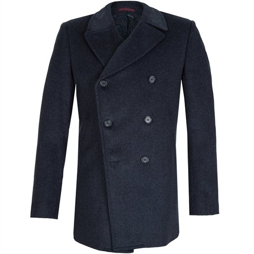 Spark  Double Breasted 3/4 Coat-new online-Fifth Avenue Menswear