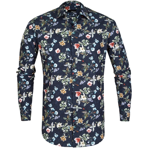 Slim Fit Motion Floral Dress Shirt-new online-Fifth Avenue Menswear