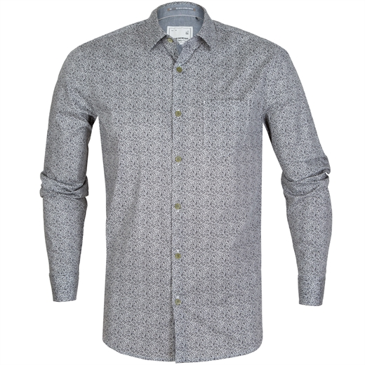 Micro Geometric Print Stretch Cotton Shirt-new online-Fifth Avenue Menswear
