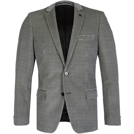 Clever Velvet Houndstooth Blazer-wedding-Fifth Avenue Menswear