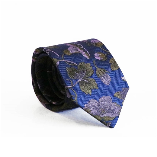 Limited Edition Bari Floral Silk Tie-parisian 1919-Fifth Avenue Menswear