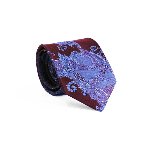 Limited Edition Naples Paisley Silk Tie-parisian 1919-Fifth Avenue Menswear