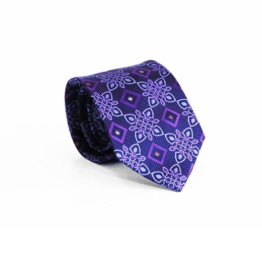 Limited Edition Bergamo Geometric Silk Tie-parisian 1919-Fifth Avenue Menswear