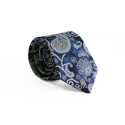Limited Edition Turin Paisley Silk Tie-parisian 1919-Fifth Avenue Menswear