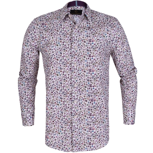 Seth Small Floral Print Stretch Cotton Shirt-on sale-Fifth Avenue Menswear