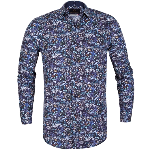 "Nigel Floral ""Respect"" Cotton Casual Shirt-on sale-Fifth Avenue Menswear"