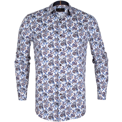 Seth Paisley Print Stretch Cotton Shirt-new online-Fifth Avenue Menswear