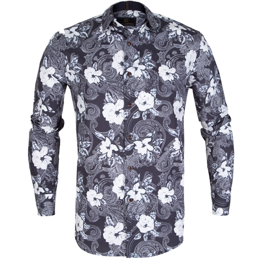 Seth Floral & Paisley Print Stretch Cotton Shirt-new online-Fifth Avenue Menswear