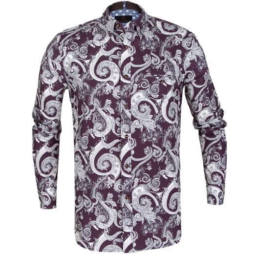Colton Paisley Stretch Cotton Shirt-new online-Fifth Avenue Menswear