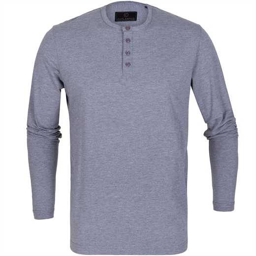 Harvey Stretch Cotton Henley-t-shirts & polos-Fifth Avenue Menswear