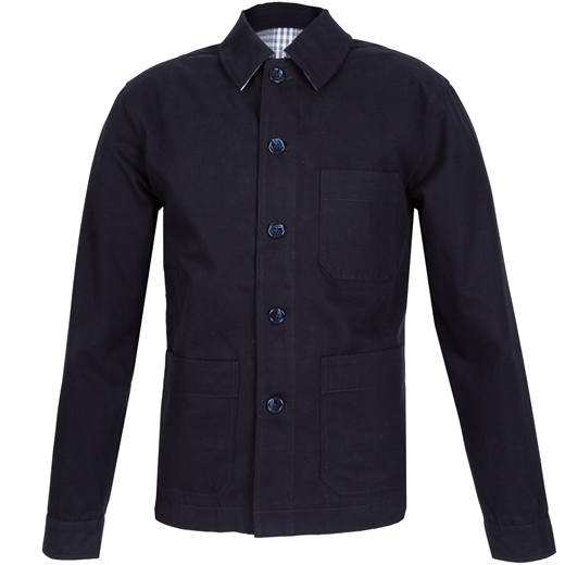 Finlay Brushed Cotton Shirt Jacket-casual jackets-Fifth Avenue Menswear