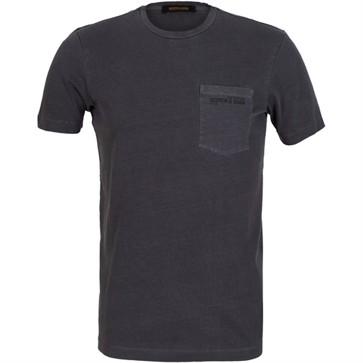 Slim Fit Garment Dyed Pocket T-Shirt-on sale-Fifth Avenue Menswear