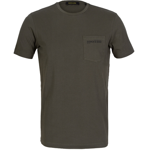 Slim Fit Garment Dyed Pocket T-Shirt-new online-Fifth Avenue Menswear