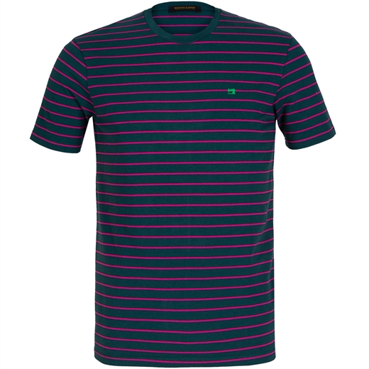 Slim Fit Fine Stripes T-Shirt-new online-Fifth Avenue Menswear