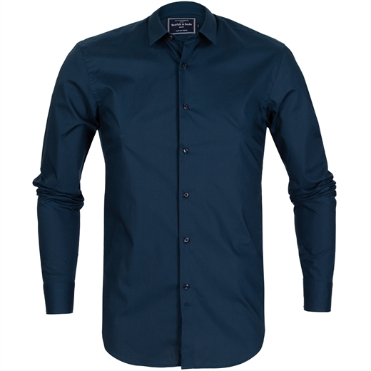 Slim Fit Stretch Cotton Shirt-new online-Fifth Avenue Menswear