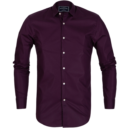 Slim Fit Stretch Cotton Shirt-shirts-Fifth Avenue Menswear