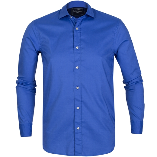 Regular Fit Micro Dobby Cotton Shirt-on sale-Fifth Avenue Menswear